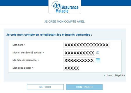 créer un compte ameli.fr