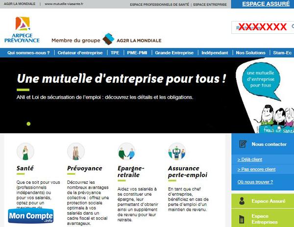 http://www.arpege-prevoyance.com : site de la mutuelle arpège prévoyance