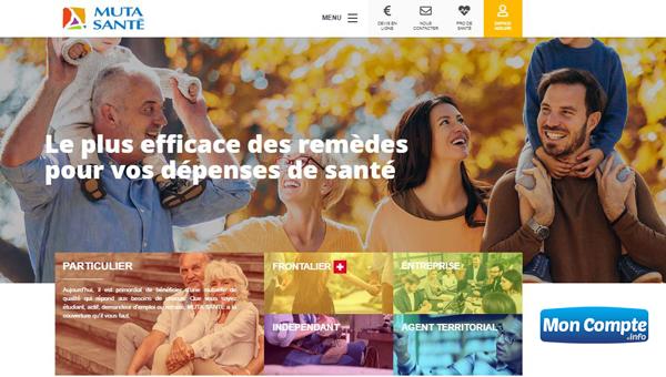 www.muta-sante.fr: page d'accueil