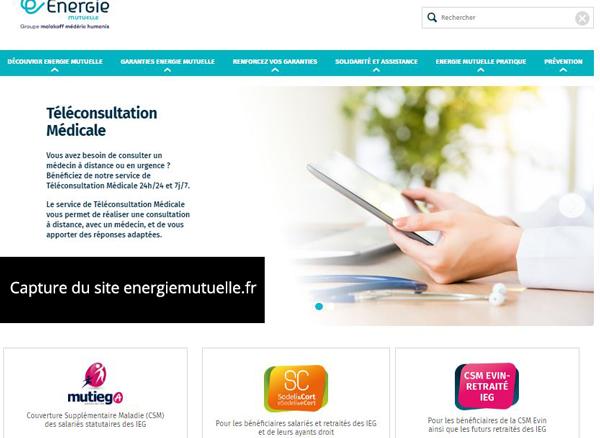 www.energiemutuelle.fr : site web d'énergie mutuelle