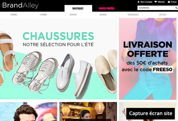 site de vente privée : www.brandalley.fr