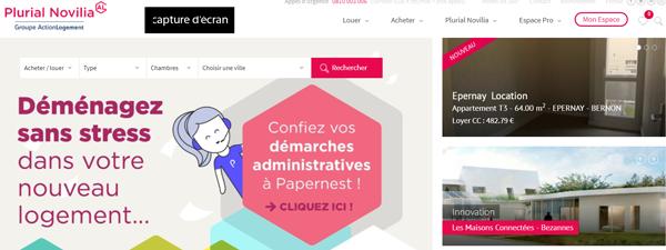accès Plurial Novilia Espace Client sur le site www.plurial-novilia.fr