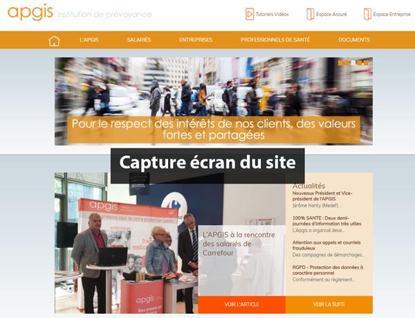 www.apgis.com : site de la mutuelle