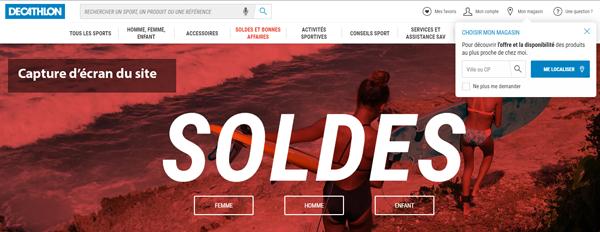 www.decathlon.fr : site du magasin