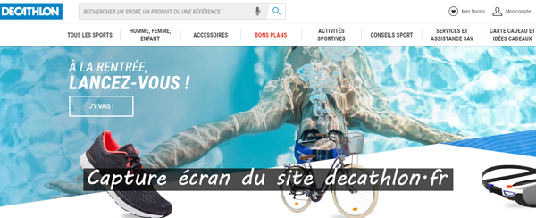 site officiel du magasin : www.decathlon.fr