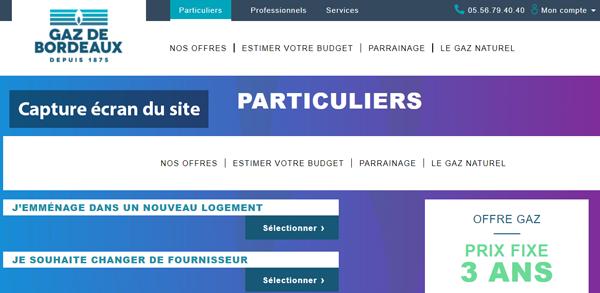 www.gazdebordeaux.fr : site du fournisseur pour particulier