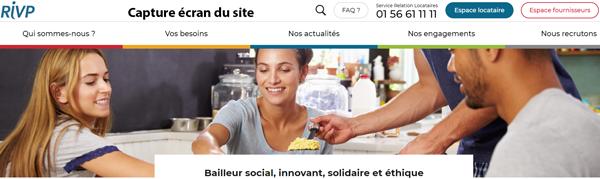 www.rivp.fr : site officiel pour accéder à mon espace personnel