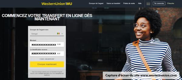 Créer un compte Western Union en ligne sur le site www.westernunion.com