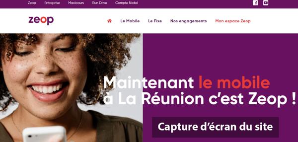 www.zeop.re : site du fournisseur Mobile et Internet très haut-débit à La Réuni