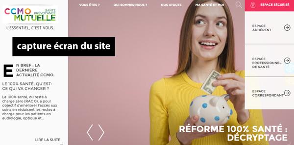 site de la mutuelle santé et prévoyance : www.ccmo.fr