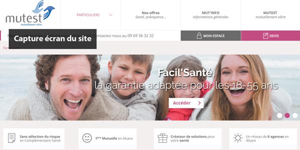 site de la mutuelle en ligne www.mutest.fr