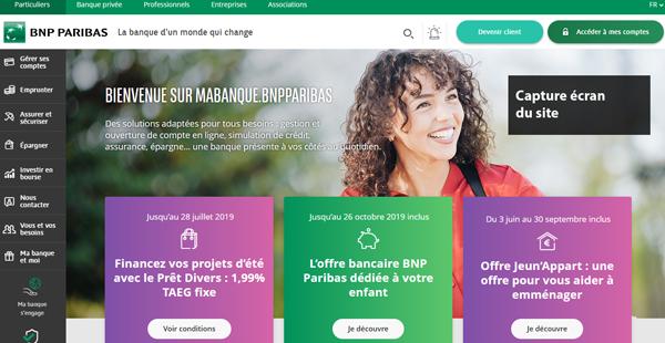 site officiel de la banque en ligne : mabanque.bnpparibas