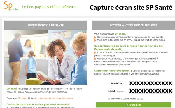 sp santé mon compte : accès sur le site www.spsante.fr