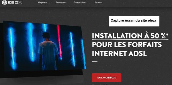 www.ebox.ca : site du fournisseur internet et tv