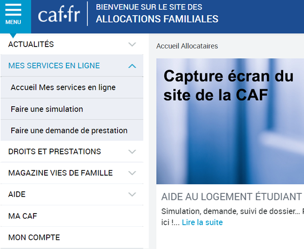 site de la caisse allocation familiale