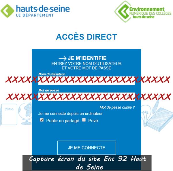 Accès Enc 92 Haut de Seine