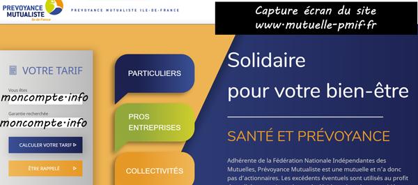 www.mutuelle-pmif.fr : portail de prévoyance mutualiste