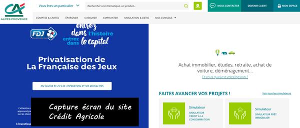 www.ca-alpesprovence.fr : portail du crédit agricole alpes