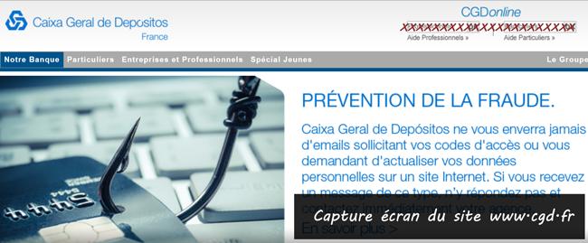 www.cgd.fr : portail de la banque Caixa