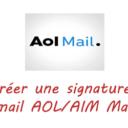 créer une signature mail AOL/AIM Mail