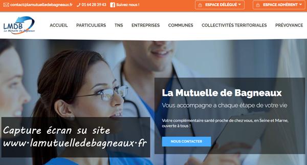 www.lamutuelledebagneaux.fr : portail LMDB