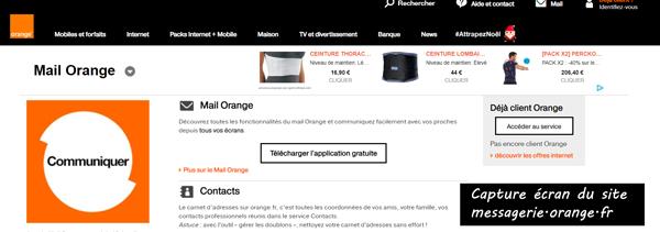 se connecter à Orange messagerie sur le portail www.messagerie.orange.fr