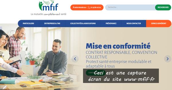 Mfif Extranet : accès à l'espace adhérent sur le site www.mfif.fr