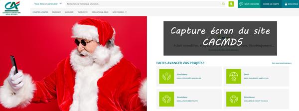 site de la banque CACMDS en ligne