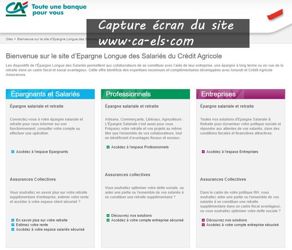 www.ca-els.com : le site de l'Épargne Longue des Salariés du Crédit Agricole