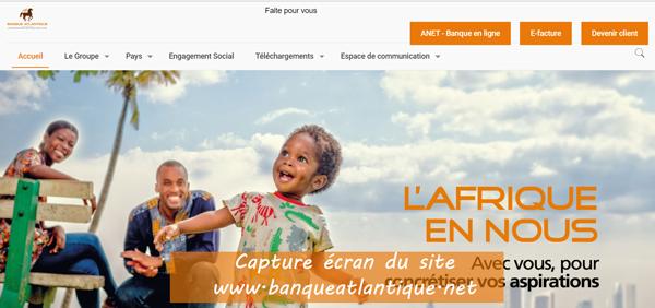 www.banqueatlantique.net : site de la banque atlantique