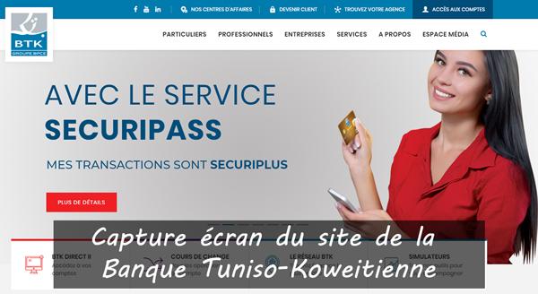 www.btknet.com : site de la banque tuniso-Koweitienne
