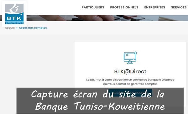 accédez à vos compte btk