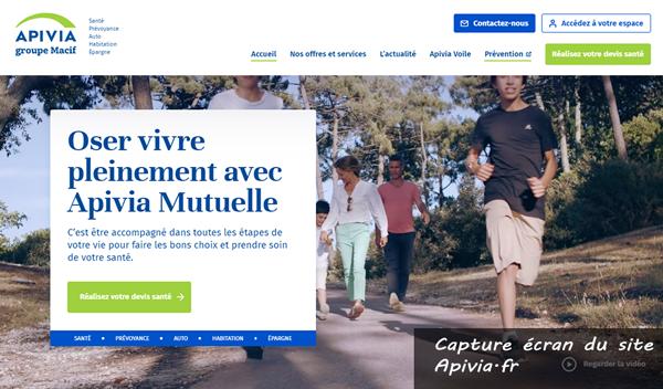 www.apivia.fr : le site de la mutuelle