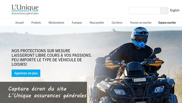 www.lunique.qc.ca/accueil : site de l'unique assurances