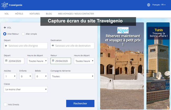 site Travelgenio France