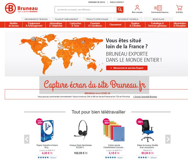 site du fournisseur de bureau www.bruneau.fr
