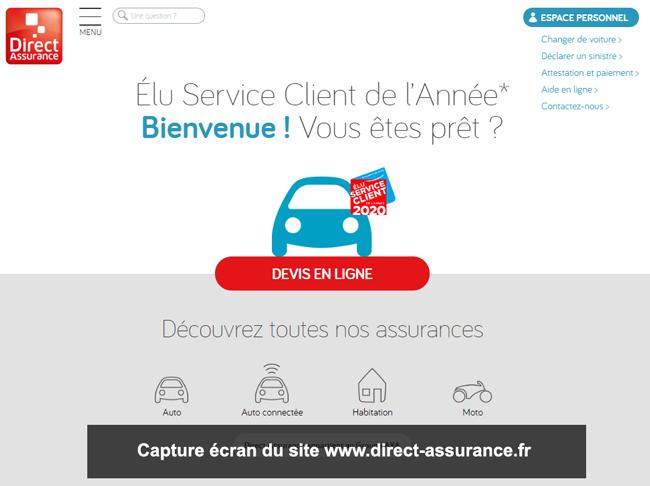 www.direct-assurance.fr : site de direct assurance