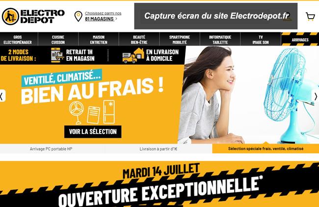 connexion mon compte Electro dépôt sur le site Electrodepot.fr