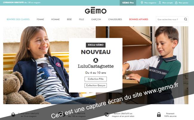 Créer mon compte gémo sur le site gemo.fr