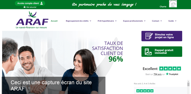 se connecter à mon compte sur le site araf.fr