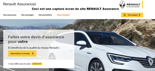 se connecter sur le site www.renault-assurances.fr