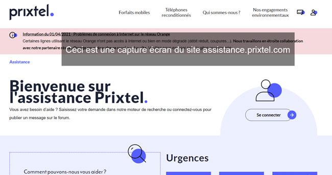 assistance.prixtel.com : le site dédié au service client