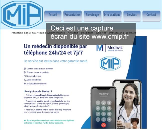 se connecter à mon compte sur le site www.cmip.fr