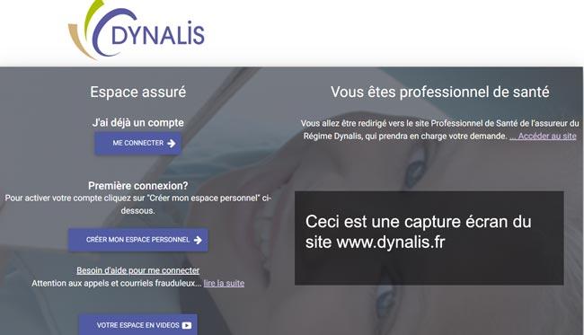se connecter à l'espace assuré dynalis.fr
