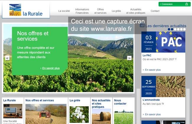 se connecter à mon compte sur le site www.larurale.fr