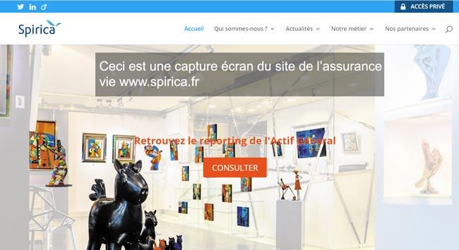 se connecter à mon compte sur le site www.spirica.fr
