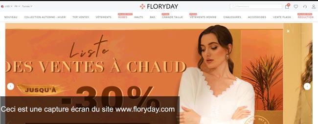 retourner un article chez Floryday France