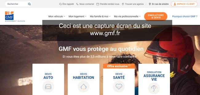 www.gmf.fr : site de l'assurance gmf