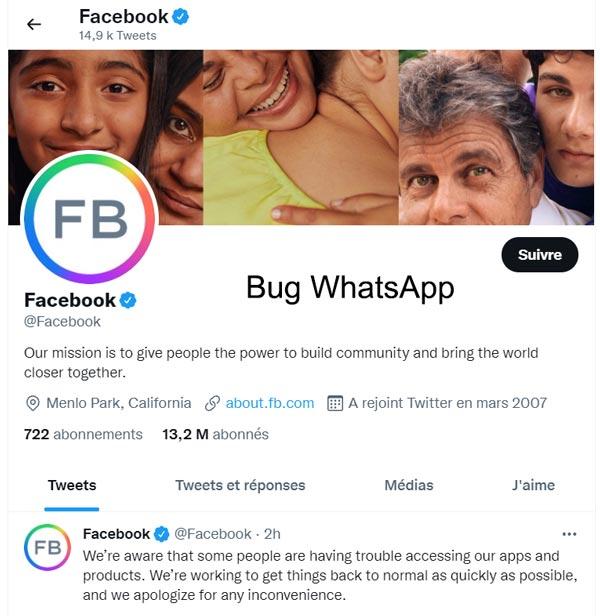 WhatsApp inaccessible et ne fonctionne pas aujourd'hui